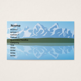 Mountains - Business Business Card
