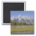 Mountains by Lake Fridge Magnet