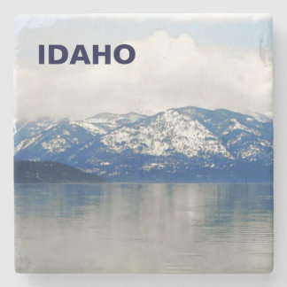 Mountains By The Lake Stone Beverage Coaster