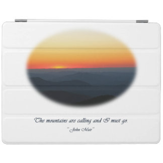 Mountains Calling / Smokies Sunset Oval iPad Cover