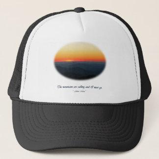 Mountains Calling/Smokies Sunset Oval Trucker Hat