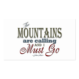 Mountains Calling Typography Quote - John Muir Double-Sided Standard Business Cards (Pack Of 100)