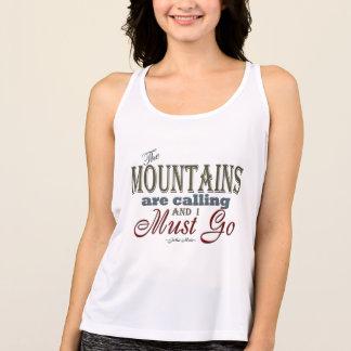 Mountains Calling Typography Quote - John Muir Tank Top