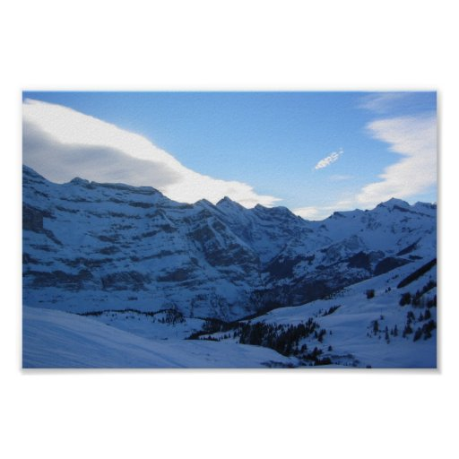 Mountains Covered With Snow Poster