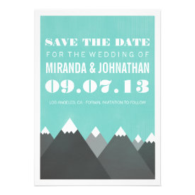 Mountains  Design Photo Save The Date Invites