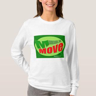 Mountains Do Move Long Sleeve Christian T-Shirt