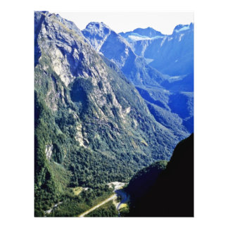 Mountains, Fiordland National Park Flyer