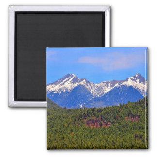 Mountains Flagstaff Arizona 2 Inch Square Magnet