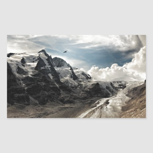 Mountains (Grossglockner) Rectangular Sticker