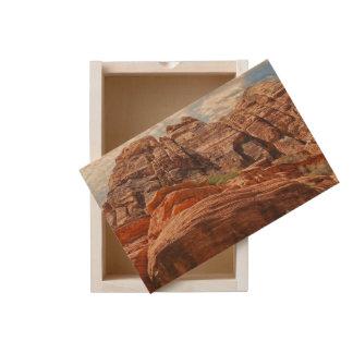 Mountains HDR photo Wooden Keepsake Box