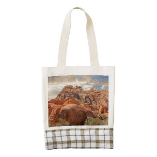 Mountains HDR photo Zazzle HEART Tote Bag