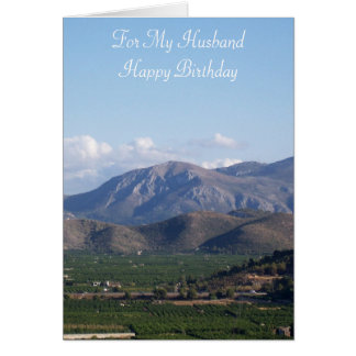 Mountains Husband Birthday Card