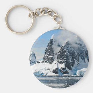 mountains ice bergs keychain