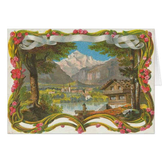 Mountains Idyllic Valley Countryside Father's Day Card