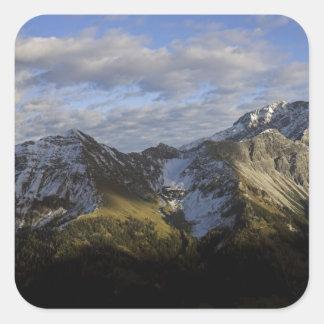 Mountains in Austria Square Sticker