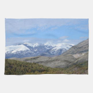Mountains In Calabria Kitchen Towels