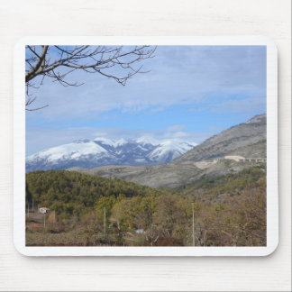 Mountains In Calabria Mouse Pad