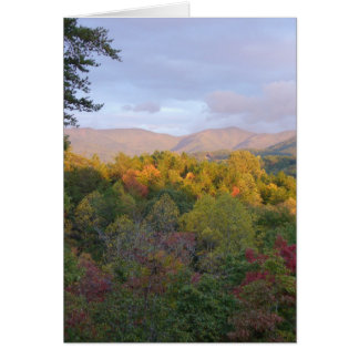 Mountains in Fall Stationery Note Card