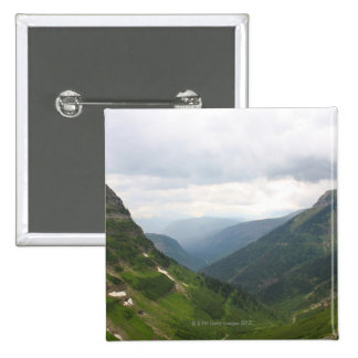Mountains in Glacier National Park Pinback Button