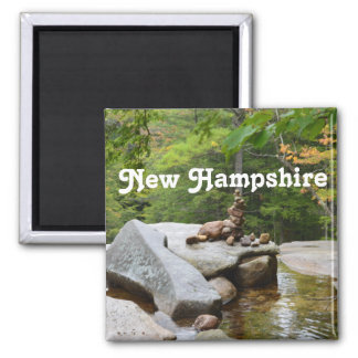 Mountains in New Hampshire 2 Inch Square Magnet