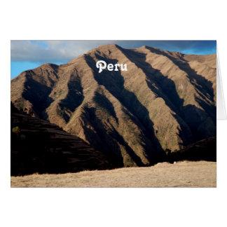 Mountains in Peru Greeting Cards