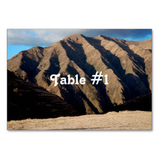 Mountains in Peru Table Card