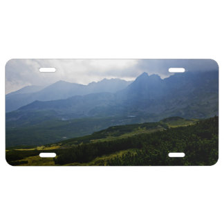 Mountains In Poland With Cloud Coverage License Plate