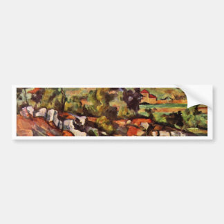 Mountains In Provence By Paul Cézanne Car Bumper Sticker
