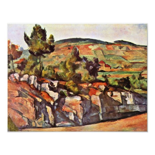 Mountains In Provence By Paul Cézanne Card