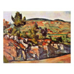 Mountains In Provence By Paul Cézanne Custom Invitation