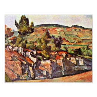 Mountains In Provence By Paul Cézanne 4.25x5.5 Paper Invitation Card