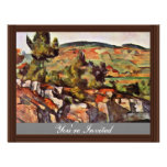 Mountains In Provence By Paul Cézanne Invitation