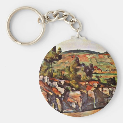 Mountains In Provence By Paul Cézanne Keychain