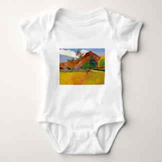 'Mountains in Tahiti' - Gauguin Infant Baby Bodysuit