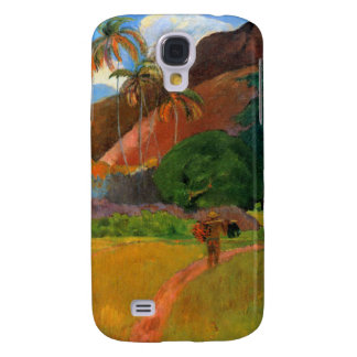 Mountains in Tahiti Gauguin painting warm colorful Galaxy S4 Covers