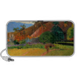 Mountains in Tahiti Gauguin painting warm colorful Travel Speaker