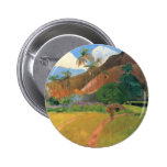 Mountains in Tahiti - Paul Gauguin 2 Inch Round Button