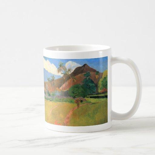 Mountains in Tahiti - Paul Gauguin Coffee Mug