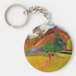 'Mountains in Tahiti' - Paul Gauguin Keychain