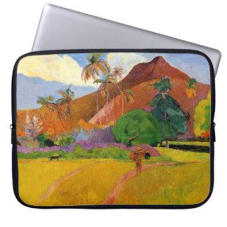 'Mountains in Tahiti' - Paul Gauguin Laptop Sleeve