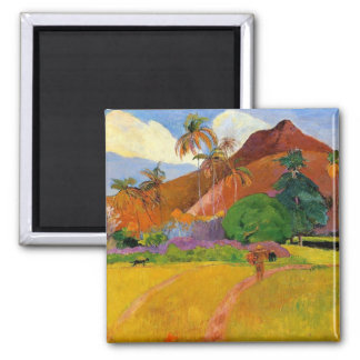 'Mountains in Tahiti' - Paul Gauguin Magnet