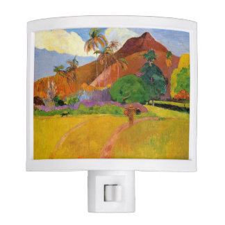 'Mountains in Tahiti' - Paul Gauguin Night Light