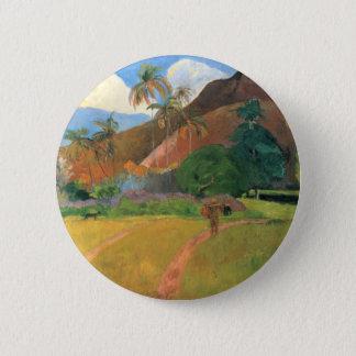 Mountains in Tahiti - Paul Gauguin Pinback Button