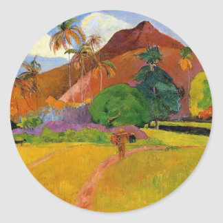 'Mountains in Tahiti' - Paul Gauguin Sticker