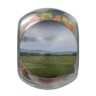 Mountains in the Distance Glass Candy Jar