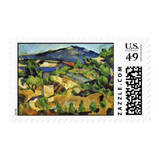 Mountains In The French Provence By Paul Cézanne Postage Stamp