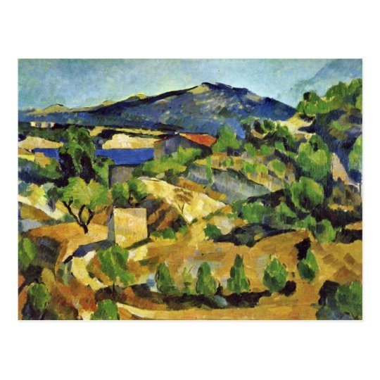 Mountains In The French Provence By Paul Cézanne Postcard