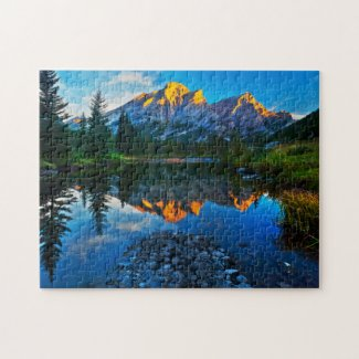 Mountains In the Summer Jigsaw Puzzle