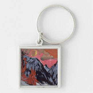 Mountains in Winter, 1919 Keychain