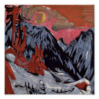 Mountains in Winter, 1919 Poster